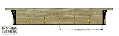 Spacing Hooks for this Custom Built DIY Coat Rack by Prodigal Pieces |  www.prodigalpieces