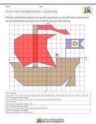 Coordinate Plane Worksheets - 4 quadrants