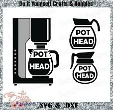 Choose from 12000+ coffee graphic resources and download in the form of png, eps, ai or psd. Coffee Pot Head Designs Svg Files Cricut Silhouette Studio Digital Cut Files