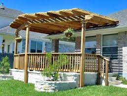 contemporary house pergola attached to house roof how build a the with gorgeous ideas design for and