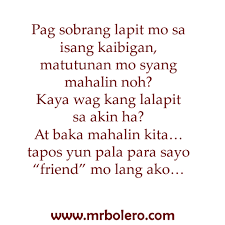 Tagalog Quotes About Love And Friendship Delectable Tagalog Quotes About Friendship Entrancing Kaibigan Lang Quotes And