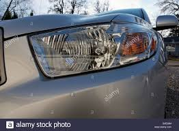 Toyota Highlander Parking Lights Low Angle Wide Perspective View Of A Head Light On Toyota