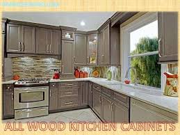 All Wood Kitchen Cabinets Online Interesting Inspiration Design