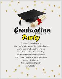 Invitation For Graduation Graduation Party Invite Wording With Romantic And Graduation