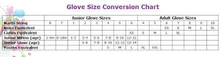 Uk Glove Size Conversion Chart Manbi Gloves Size Chart