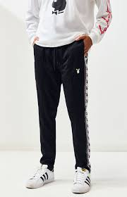 Pacsun X Playboy Taped Tricot Track Pants