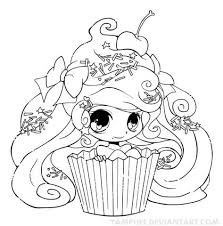 Small Picture Chibi Cupcake Girl Coloring page If youre in the market for