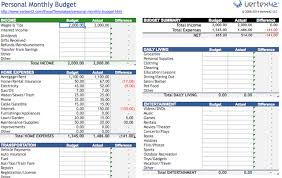 Free Samplebusinessresume Personal Spreadsheet - com Budget Finance 10