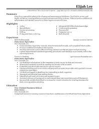 Data Entry Sample Resume Data Entry Coordinator Resume Sample Free