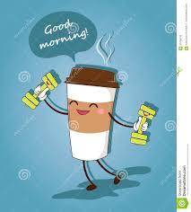 Ein Lustiger Tasse Kaffee Guten Morgen Auch Im Corel Abgehobenen