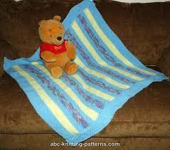 Easy Baby Blanket Knitting Patterns For Beginners Gorgeous ABC Knitting Patterns Easy Garter Stitch Baby Blanket