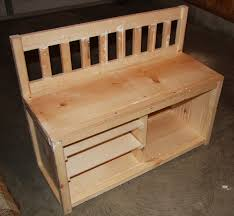 image of bench with shoe storage design