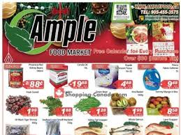 ample foods flyer ample food market flyers weekly ads in canada shopping canada