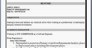 It Resume Objective Resume Headline For Fresher Mca It Resume