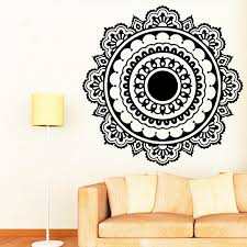 buddhism india mandala wall stickers for living room namaste india removable creative vinyl wallpaper mural home decoration wall decals for the home wall