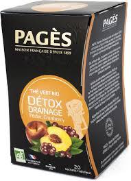 <b>Чай</b> зеленый <b>Pages</b> Детокс дренаж, персик, клюква, 20 пакетиков ...