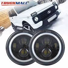 DOT.EMARK Approved <b>7inch LED</b> Halo Ring <b>Headlights</b> Projector ...