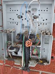 how to install a dsl line the telephone network interface device is filled dirt debris and wasps nests