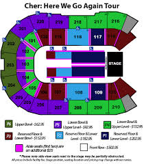 Angel Tickets Seating Chart Angel Of The Winds Arena Online Ticket Office Cher Here