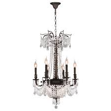 winchester 9 light dark bronze crystal basket chandelier d20 xh29 medium