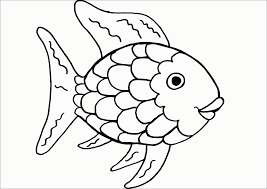 This website presents you with a great collection of printable fish coloring pages that will truly enhance your kids' artistic skills. Rainbow Fish Coloring Pages Haeadvrlistscom Rainbow Fish Coloring Page Rainbow Fish Template Fish Coloring Page