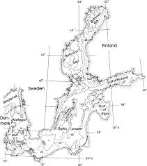 Map Of The Baltic Sea The Maximum Sill Depth Between