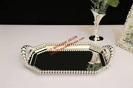 Decorating With Silver Trays Metal Plate With Silver Rectangle Serving cake Tray Party and 57