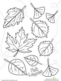 550_color falling leaves printable fall coloring pages on www education com worksheets