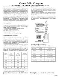 Manual Name Cased Coil Installation Sheet Manualzz Com
