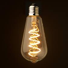 Edison Light Globes Australia 3 Watt Dimmable Spiral Filament Led E27 Clear Edison