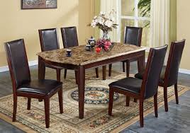 marble dining room table darling daisy:  elegant rectangle brown marble with brown wooden legs completed with black for marble dining room table