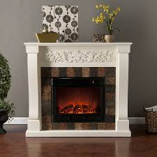 eleagant home depot electric fireplaces with mantle and