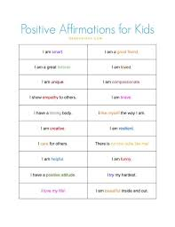 The 25+ best Positive affirmations for kids ideas on Pinterest ...