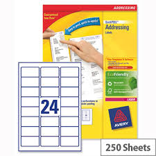 avery sheet labels avery l7159 250 address labels laser 24 per sheet 63 5x33 9mm white 6000 labels