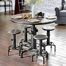 foskey antique black finish counter height table set