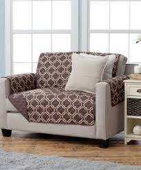 adalyn collection deluxe reversible quilted furniture protector beautiful print on one side solid color on the other for two fresh looks by home fashion
