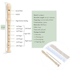 Soprano Recorder German Style 8 Holes Key Of C Flute With Full Kit Ivory 1 Pack