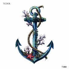 Tcool корабль якорь женщины временные татуировки наклейки водонепроницаемый моды