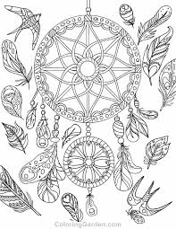Small Picture Free printable dreamcatcher adult coloring page Download it in