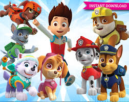 paw patrol clipart printable pictures by clipartstation on etsy 1500x1191