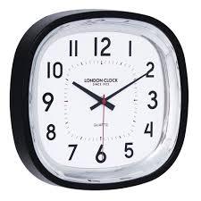 medium square kitchen wall clock black case by the london clock company