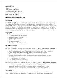 Resume Templates: Pdms Piping Designer