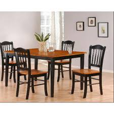 boraam 5 piece black and oak dining set
