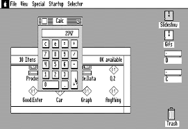 apple 2gs. the apple ii desktop is not really an operating system, but it does come with several accessories. on a simple calculator. 2gs