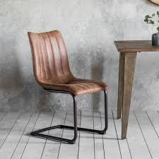 cult living cassius side chairs set of 2 faux leather upholstered brown