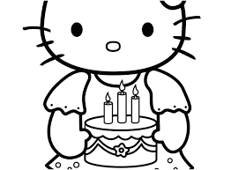 Hello Kitty Coloring Pages To Print Free Printable Cat Online Hell