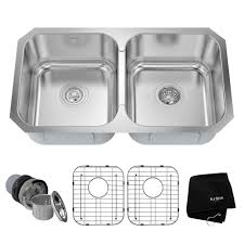 best rated stainless steel kitchen sinks best of kraus undermount stainless steel 31 in double bowl