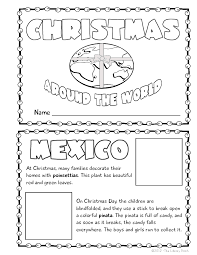 Small Picture Christmas Around the World Mini Book Activity Book projects