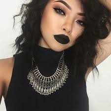 blacklipstick edgy makeup