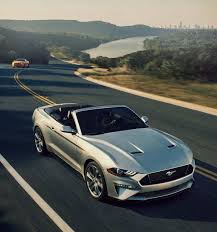 2018 ford mustang. interesting mustang 2018 mustang gt premium convertible in ingot silver on a twolane road intended ford mustang